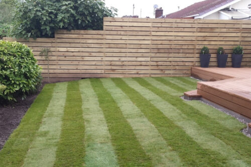 Turfing and fence installation in Gayton